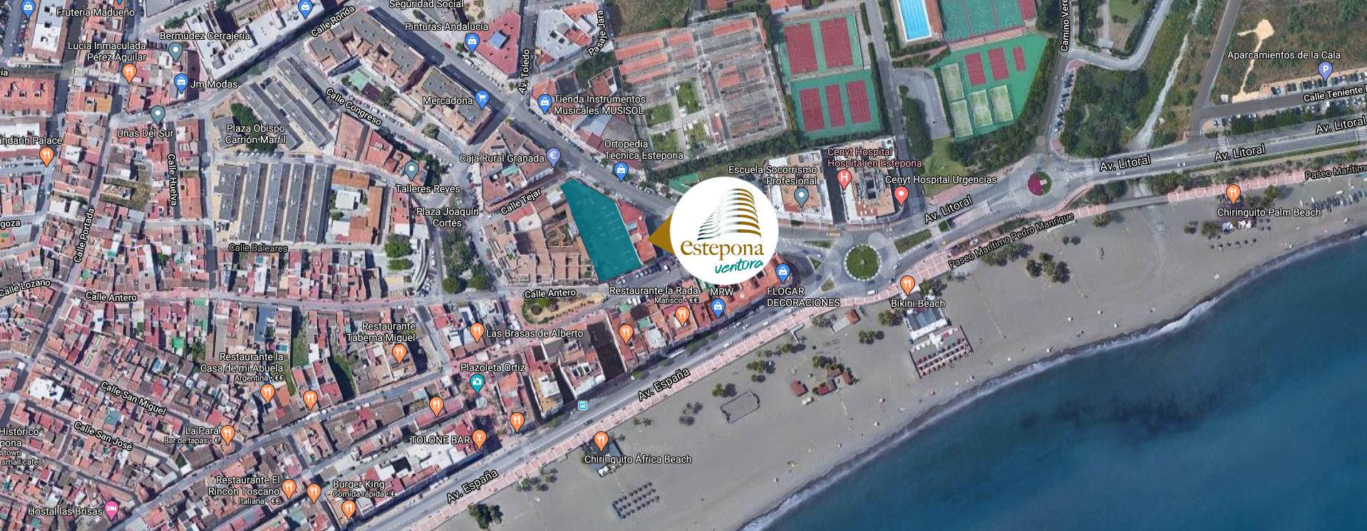 mapa - Ventura Estepona | Compra de casa en Estepona